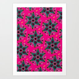 pop pattern_christmas Art Print