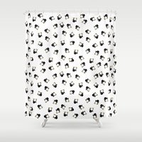 penguins Shower Curtains featuring Penguins! by Kashidoodles Creations