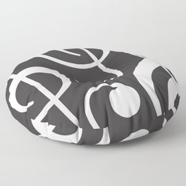 Clef music notes white grey Floor Pillow