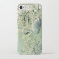 swan iPhone & iPod Cases featuring Swan by Ellen van Deelen