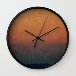 Blood Dusk Wall Clock