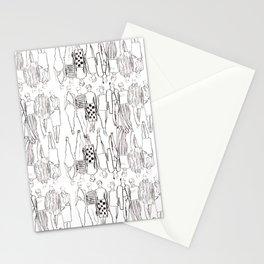 b&w runway Stationery Cards