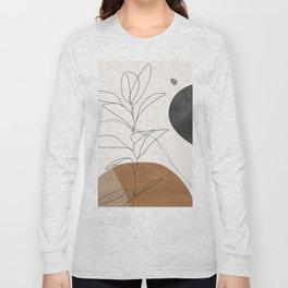 Abstract Art /Minimal Plant Long Sleeve T-shirt