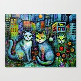Cat tale Canvas Print