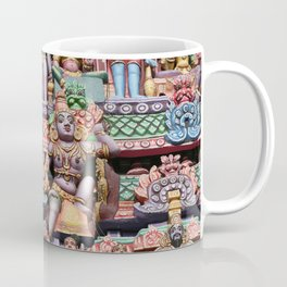 India Hinduism multicolored Temple Design Coffee Mug