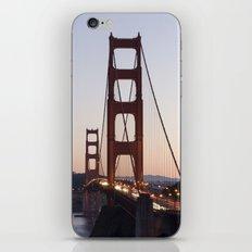 Golden Gate Bridge at Twilight iPhone & iPod Skin