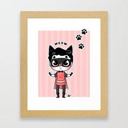 Kitten Boy Framed Art Print