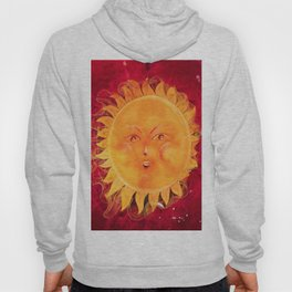 Digital painting of a chubby sun with a funny face Hoody
