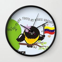 Yo nací en una ribera del Arauca vibrador Wall Clock