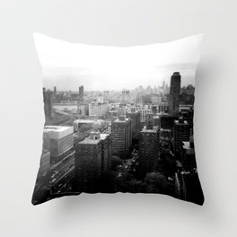 Brooklyn Black and White Throw Pillow