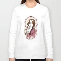 oscar wilde Long Sleeve T-shirts featuring Oscar Wilde Holy Writer by roberto lanznaster