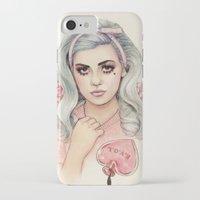 marina and the diamonds iPhone & iPod Cases featuring L.O.V.E   E.V.O.L by Helen Green