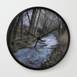 Steel Blue Winter Wall Clock