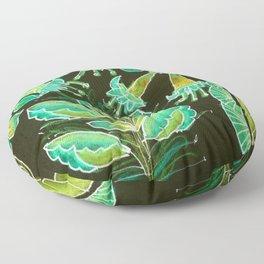 Irish Garden, Lime Green Flowers Dance in Joy Floor Pillow