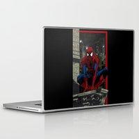 spider man Laptop & iPad Skins featuring Spider-Man by Shawn Norton Art