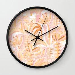Botanical jungle fields Wall Clock