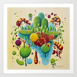 Dripping Drops Art Print