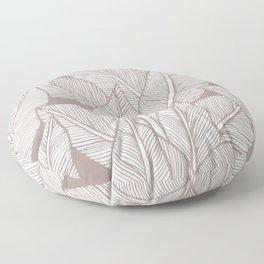 Tropical minimalistic leaves Floor Pillow