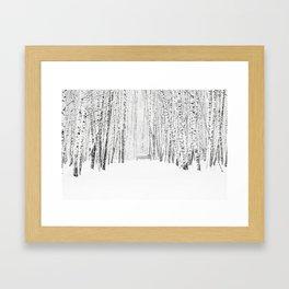 White Winter Day Framed Art Print