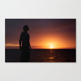 Sunset Sillhuette Canvas Print