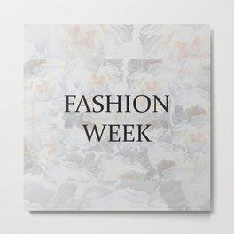Fashion City: Fashion Week Metal Print