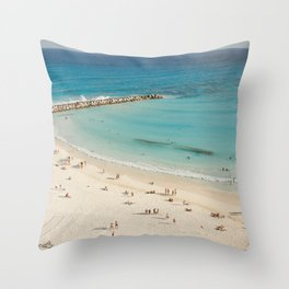 Cancun Beach Throw Pillow