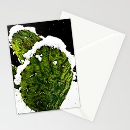 Snowy Nopales Stationery Cards