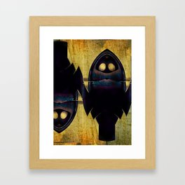 The Double Nature Of Owls Framed Art Print