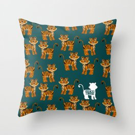 Save the tigers Throw Pillow