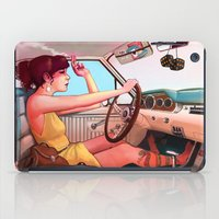 woman iPad Cases featuring The Getaway by Rudy Faber
