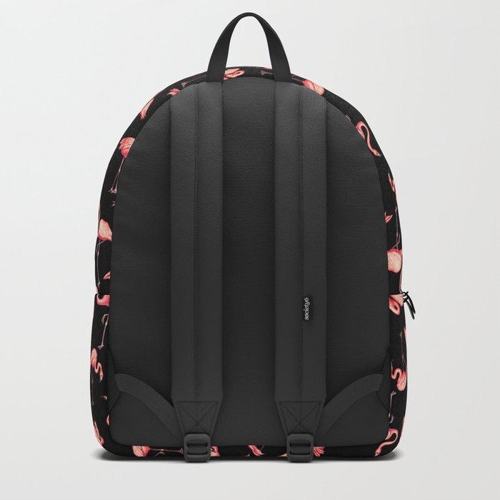Flamingo Pattern - Black Backpack