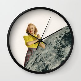He Gave Her The Moon Wall Clock