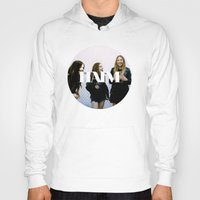 haim Hoodies featuring HAIM round photo logo by Van de nacht