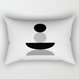 Calm Zen Balancing - Black Gray White Rectangular Pillow