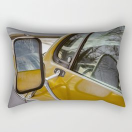 Vintage Car Mirror Rectangular Pillow