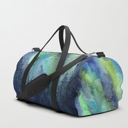 Galaxy Aurora Northern Lights Nebula Space Watercolor Duffle Bag
