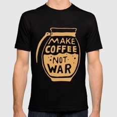 Make Coffee Not War Black MEDIUM Mens Fitted Tee