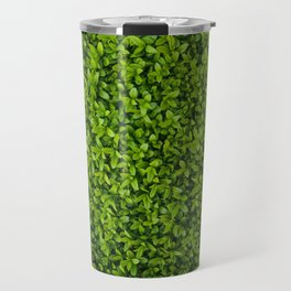 Green Leaves Pattern Travel Mug