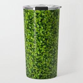 Green Leaves Pattern Travel Mug