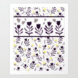 tiptoe through the tulips ... Art Print