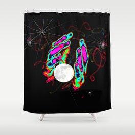 Making a Moon Shower Curtain