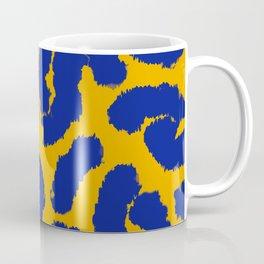 Orange and blue animal print pattern  Coffee Mug
