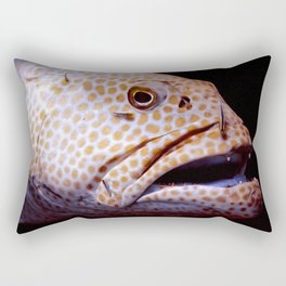 Coral Grouper Being Cleaned Rectangular Pillow