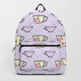 Rose Tea Cup Pattern Backpack