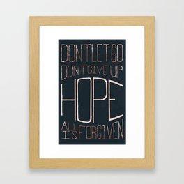 Don't Let Go... Framed Art Print