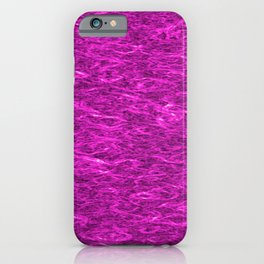 Horizontal metal texture of bright highlights on pink waves. iPhone Case