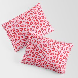 Leopard Print - Red And Pink Pillow Sham