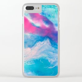 Coral lights 2 Clear iPhone Case