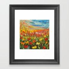 SUNSET MEADOW II Framed Art Print