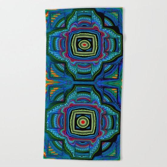 Groovy modern abstract  Beach Towel